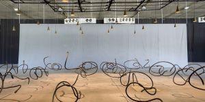 Damian Ortega | Harvest, 2013 | Steel sculptures, lamps | Walid Rashid©