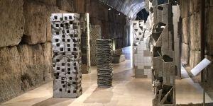 Installation view of Pillars by Marwan Rechmaoui