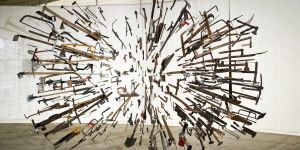 Damian Ortega | Controller of the Universe, 2007 | Found tools, wire. | Walid Rashid©